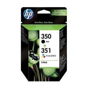 Inktcartridge HP SD412EE 350 + 351 zwart + kleur
