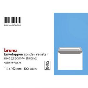 Envelop Bruna C6 114x162mm