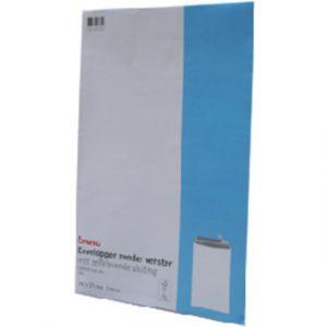 Envelop Bruna akte EB4 262x371mm zelfklevend wit 5stuks