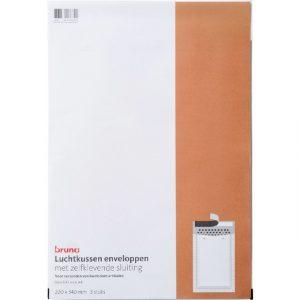 Envelop Bruna luchtkussen 220x340mm wit 3 stuks