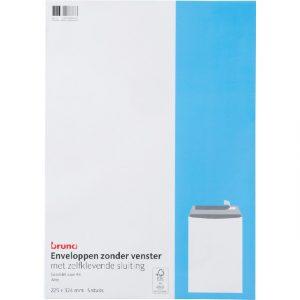 Envelop Bruna akte C4 229x324mm zelfklevend wit 5 stuks