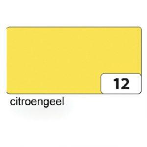 Fotokarton Folia 2zijdig 50x70cm 300gr nr12 citroengeel