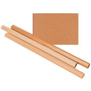 Inpakpapier Kraft gestreept 60gr 100cmx10m op rol